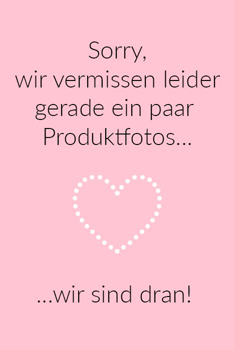 Emily van den Bergh Kurzarm-Bluse mit Schmuckstein-Applikationen in Mehrfarbig aus 100% Baumwolle. Leichte Bluse mit Herz-Print und Schmuckstein-Applikationen am Ausschnitt und Saum