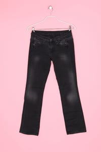Pepe Jeans London -  used look bootcut-jeans  mit logo-patch - M