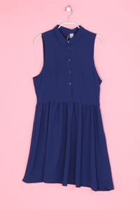 H&M DIVIDED - hemd-skater-kleid - D 38