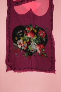 CODELLO - schal aus wolle mit floralem muster mit fransen -