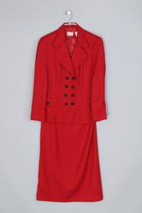 UNITED COLORS OF BENETTON - vintage-kostüm aus schurwolle - D 36