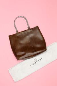 LAMARTHE - coated-handtasche mit logo-print -