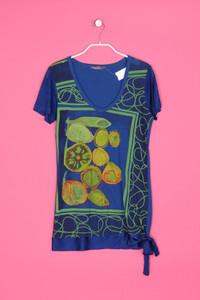 Desigual - kurzarm-shirt mit logo-print - L