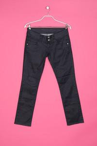 Pepe Jeans - dark denim skinny-jeans mit logo-stickerei - D 42