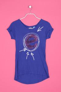 Desigual - kurzarm-shirt aus viskose mit print - S