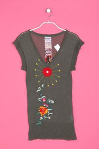 Desigual - strick-pullover mit stickereien - S