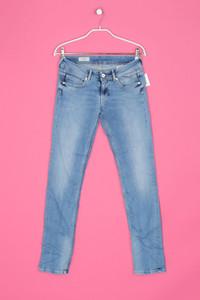 Pepe Jeans - used look skinny-jeans mit logo-stickerei - W28