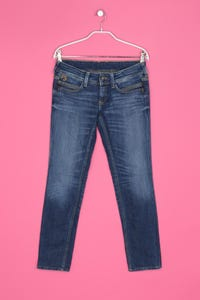 Pepe Jeans - jeans im used look mit logo-stickerei - D 40