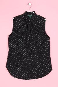 LAUREN RALPH LAUREN - schluppen-bluse mit logo-knöpfen mit print - D 40