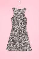 H&M - stretch-kleid mit leo-print - XS