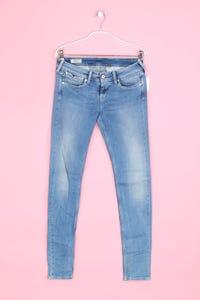 Pepe Jeans London - used look skinny-jeans mit logo-patch - D 36