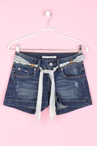 Pepe Jeans - used look shorts-jeans mit gürtel - W25