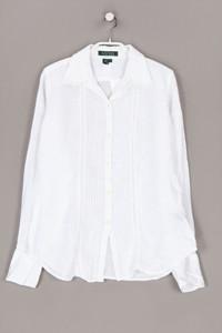 LAUREN RALPH LAUREN - hemd-bluse aus leinen mit biesen - S