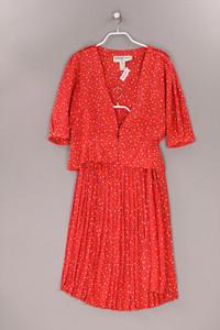 AZZARO - vintage-seiden-kostüm mit punkten - D 34-36