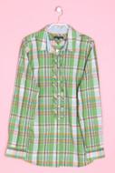 TOMMY HILFIGER - karo-hemd-bluse mit logo-knöpfen - D 42