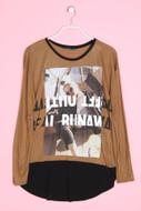 ZARA - longsleeve-shirt mit foto-print - M