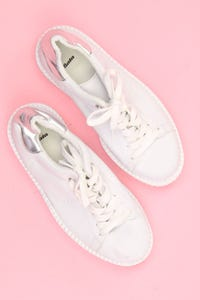 Bata - plateau-low-top sneakers mit metallic-effekt -