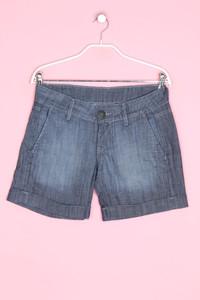 Pepe Jeans London - jeans-shorts mit logo-patch - W27
