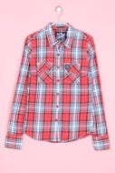 Superdry. - karo-hemd-bluse mit elbow patches - S