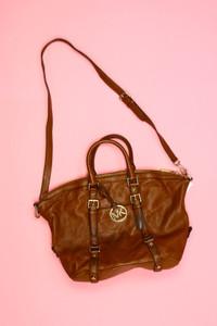 MICHAEL KORS - tote bag/shopper-tasche aus leder mit logo-plakette -