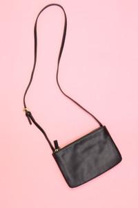 MANGO - faux leather-crossbody bag/tasche - ONE SIZE