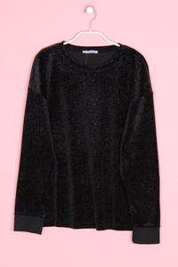 ZARA - samt-sweatshirt mit metallic-effekt - S