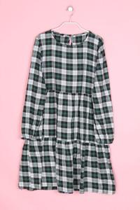 ZARA WOMAN-Karo-Kleid mit Raffungen  mit Raffungen-XL