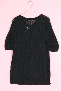 Zara Knit - kurzarm-strick-pullover - L