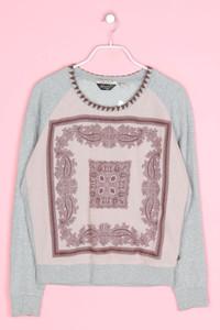 MAISON SCOTCH - sweatshirt aus baumwolle mit paisley-print - D 38