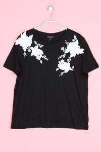 TOPSHOP - kurzarm-shirt mit spitze - D 40
