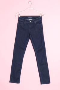 maddison - dark denim straight cut jeans - D 34