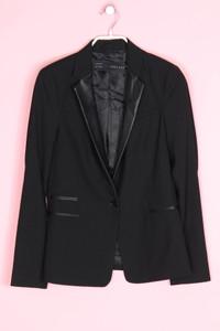 ZARA - blazer mit kunstleder-details - M