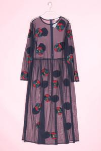 MANGO CASUAL - kleid aus mesh mit pailletten - L
