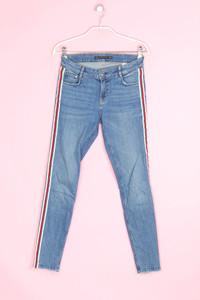 ZARA - used look skinny-jeans  mit applikationen - D 36
