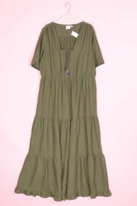 JUNAROSE - kleid im boho-stil mit raffungen - D 42
