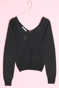 MANGO - cropped-strick-pullover - S