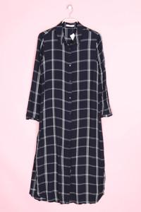 MANGO SUIT - karo-kleid mit schlitz - L