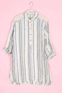 ZARA - hemd-bluse aus leinen mit streifen - XL
