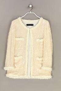 ZARA WOMAN - blazer-jacke mit pailletten - S