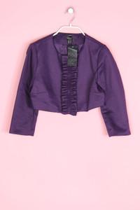 MANGO SUIT - cropped-blazer mit rüschen - S