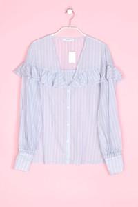 MANGO SUIT - bluse mit streifen mit rüschen - M