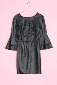 ZARA - kleid aus kunstleder - XS