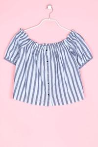 ZARA TRF - carmen-bluse mit streifen - M