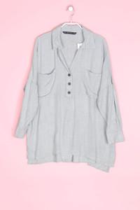 ZARA - oversize-bluse mit aufgesetzten taschen - S