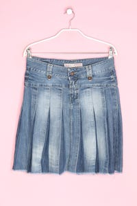 Pepe Jeans - jeans-rock im used look mit falten - S