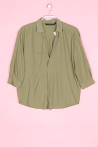 ZARA WOMAN - oversize-hemd-bluse mit kurzem ärmel - M