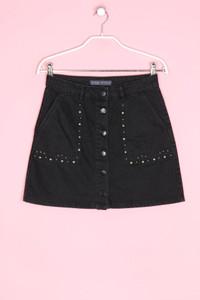 BERSHKA Denim Collection - jeans-mini-rock mit applikationen, in a-linie - M