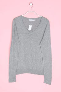 MANGO BASICS - strick-pullover mit tiefem ausschnitt - M