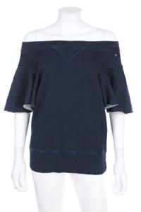 DIESEL - sweatshirt in denim-optik mit batwing-ärmeln - M