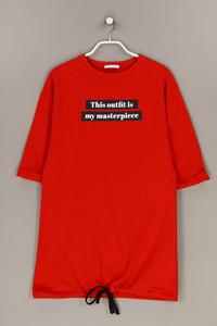 ZARA TRF - sweat-kleid mit statement-print - S